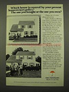 1975 The Travelers Insurance Ad - Which House Covered