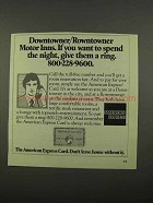 1975 American Express Card Ad - Downtowner/Rowntowner