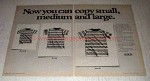 1975 Xerox 3100 LDC Copier Ad - Small and Large