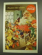 1953 Coca-Cola Soda Ad - Santa and Elves