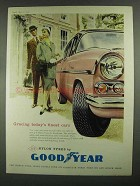 1959 Goodyear 3-T Nylon Tyres Ad - Finest Cars