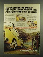 1977 Goodyear Cushion Miler RV Tires Ad - No-Thump