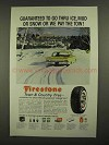 1960 Firestone Town & Country Tires Ad - Thru Ice, Mud