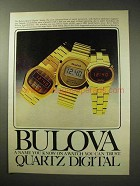 1977 Bulova Watch Ad - 82702, 82315 and 82673