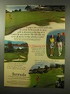 1977 Bermuda Tourism Ad - Man and Wife Play Golf