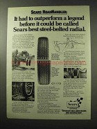 1977 Sears RoadHandler Tires Ad - Outperform a Legend
