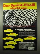 1977 Pirelli Tires Ad - in German - Der Sprint-Pirelli
