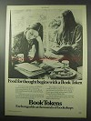 1977 Book Tokens Ad - Food for Thought