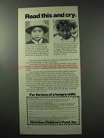 1977 Christian Children's Fund, Inc. Ad - Read And Cry