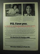 1977 Christian Children's Fund, Inc. Ad - PS I Love You