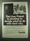 1977 Boy Scouts of America Ad - The Lion Patrol