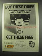 1977 Bic Pens Ad - Buy These Three