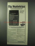 1977 Commodore STAT 60 Calculator Ad - The Statistician