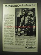 1977 Pitney Bowes Postage Meter Ad - Ray Bates Uses