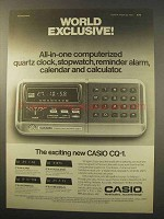 1977 Casio CQ-1 Calculator Ad - World Exclusive