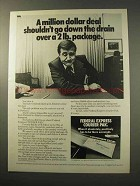 1977 Federal Express Courier Pak Ad - Down The Drain