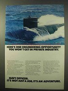 1977 U.S. Navy Ad - Engineering Opportunity