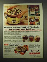 1977 Rival Crock-Pot Slow Cookers - Removable Bowls