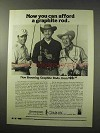1977 Browning Silaflex Graphite Rod Ad - You Can Afford
