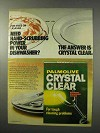 1977 Palmolive Crystal Clear Dishwasher Powder Ad