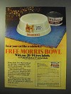 1977 9-Lives Cat Food Ad - Morris Bowl
