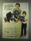 1977 General Electric Mini-Basket Tub Washer Ad - Jeans