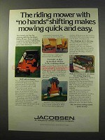 1977 Jacobsen 830 Riding Mower Ad - No Hands Shifting