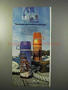 1977 Thermos Ship Shape & Reflections Vacuum Bottles Ad