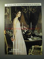 1977 Lenox China & Crystal Ad - Most Beautiful Dinners