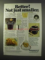 1977 Presto FryBaby and FryDaddy Ad - Better!