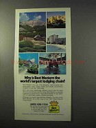 1977 Best Western Ad - World's Largest Lodging Chain