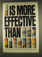 1977 Ban Deodorant Ad - More Effective Than