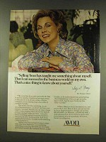 1977 Avon Products Ad - Taught Me About Myself