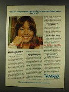 1977 Tampax Tampons Ad - The Most Trusted