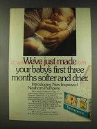 1977 Pampers Diapers Ad - Softer and Drier
