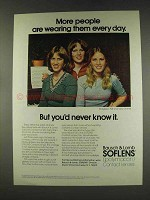 1977 Bausch & Lomb Soflens Contact Lenses Ad
