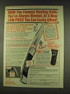 1977 Crown-Castle G-96 Titan Knife Ad - Famous Hunting