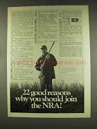 1977 NRA National Rifle Association Ad - Good Reasons