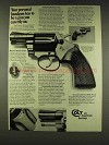 1977 Colt Detective Special Revolver Ad - Can Rely On