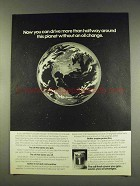 1977 Mobil 1 Oil Ad - Drive Halfway Around Planet