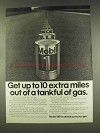 1977 Mobil 1 Oil Ad - Get Up to 10 Extra Miles