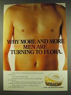 1977 Flora Margarine Ad - More and More Men
