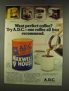 1977 Maxwell House A.D.C. Coffee Ad - Want Perfect?