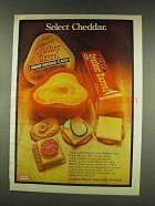 1977 Cracker Barrel Cheese Ad - Select Cheddar