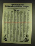 1977 Pillsbury Poppin' Fresh Dough Ad - Who Baked With?