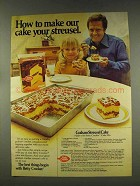 1977 Betty Crocker Cake Mix Ad - Graham Streusel Cake