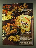 1977 Quaker Unprocessed Bran Ad - Give More Fiber