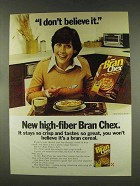 1977 Ralston Bran Chex Cereal Ad - I Don't Believe It