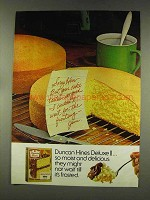 1977 Duncan Hines Deluxe II Cake Mix Ad