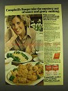 1977 Campbell's Cream Mushroom, Cheddar Cheese Soup Ad